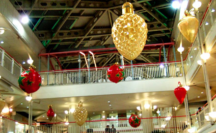 クリスマス吹き抜け装飾